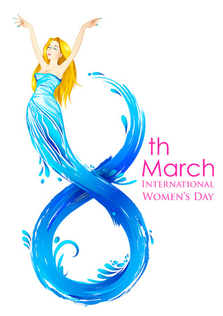 happy woman: illustration of Happy Womens Day greetings background Illustration