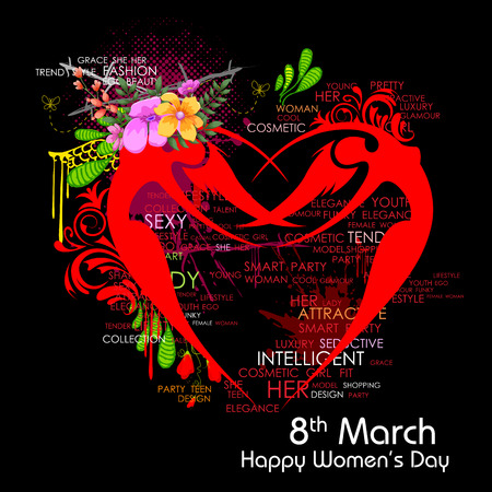 womens day: illustration of Happy Womens Day greetings background Illustration