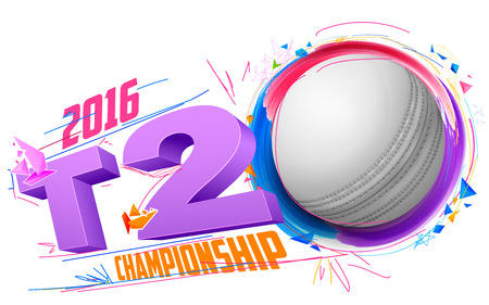cricket ball: illustration of cricket ball for T20 Cricket Championship