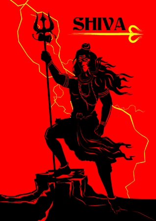 shiva: illustration of Lord Shiva, Indian God of Hindu Illustration