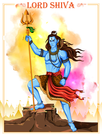 illustration of Lord Shiva, Indian God of Hindu