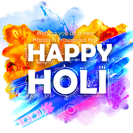 happy holi: illustration of abstract colorful Happy Holi background Illustration