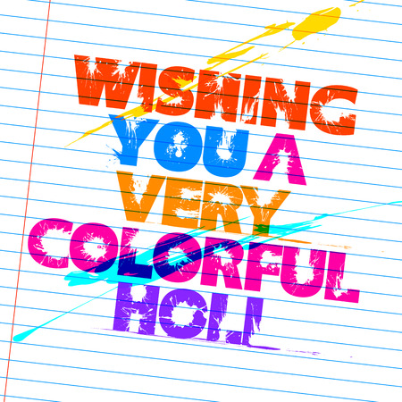 panchami: illustration of abstract colorful Happy Holi background Illustration