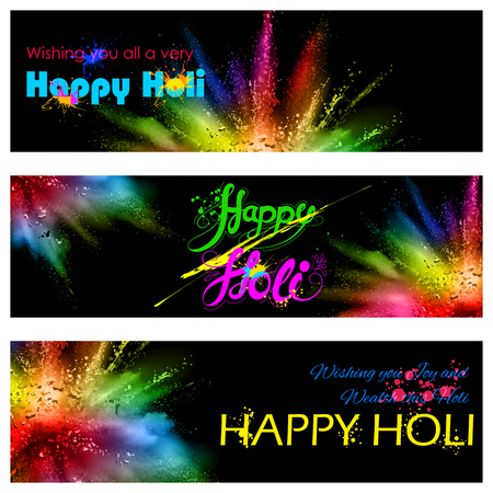 gulal: illustration of colorful gulal (powder color) explosion for Happy Holi Background