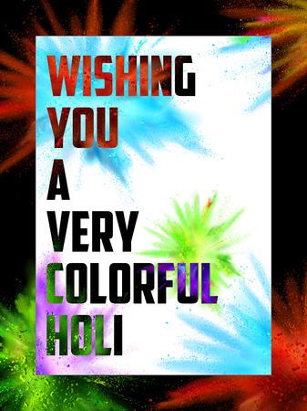 illustration de gulal coloré (couleur de poudre) d'explosion pour Happy Holi Contexte