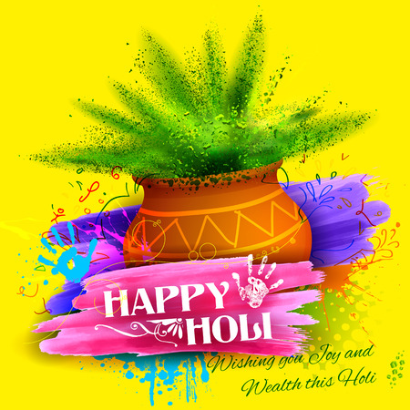 holi: illustration of colorful gulaal (powder color) for Happy Holi