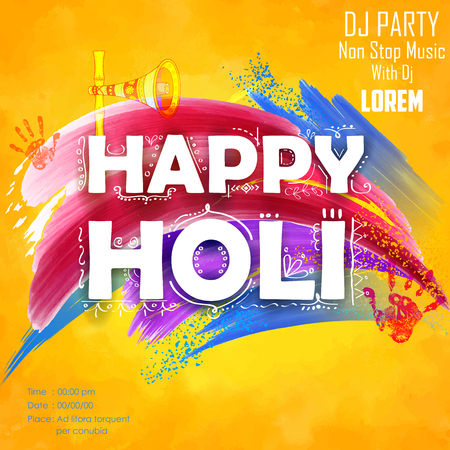 gulal: illustration of abstract colorful Happy Holi background Illustration
