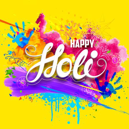 de colores: ilustración de fondo abstracto colorido feliz Holi
