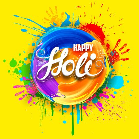 dhulandi: illustration of abstract colorful Happy Holi background Illustration