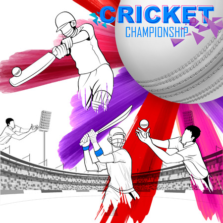 batsman: illustration of batsman playing cricket championship Illustration
