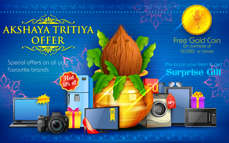 mangal: illustration of Akshaya Tritiya celebration Sale promotion