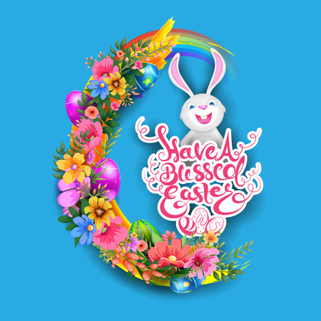 easter background: illustration of Happy Easter Background