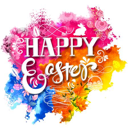 illustration of Happy Easter Background