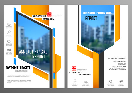 design template: illustration of Annual report and presentation Leaflet Brochure and book cover layout template design