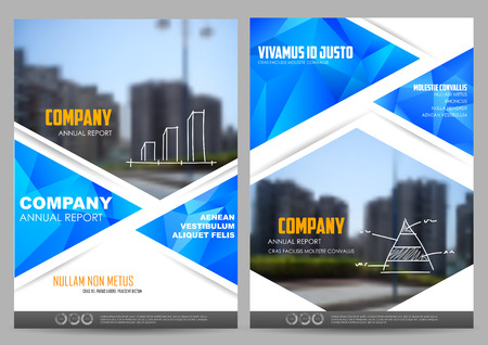 page design: illustration of Annual report and presentation Leaflet Brochure and book cover layout template design