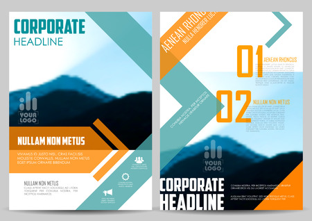 book design: illustration of Annual report and presentation Leaflet Brochure and book cover layout template design