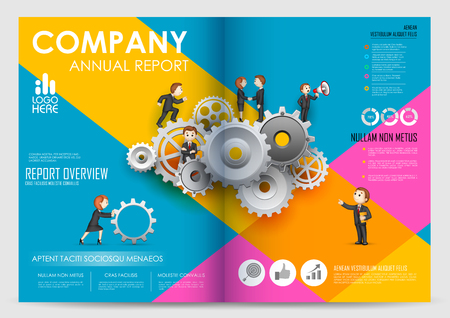cover book: illustration of Annual report and presentation Leaflet Brochure and book cover layout template design