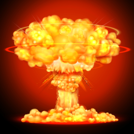 nuclear bomb: illustration of Nuclear bomb explosion