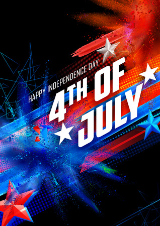 patriotic background: illustration of Fourth of July background for Happy Independence Day of America