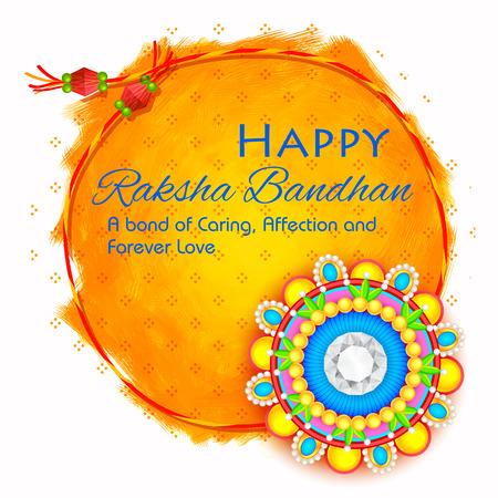 Illustration von dekorativen Rakhi für Raksha Bandhan, Indianerfest für Bruder und Schwester Bindung Feier Standard-Bild - 60676853