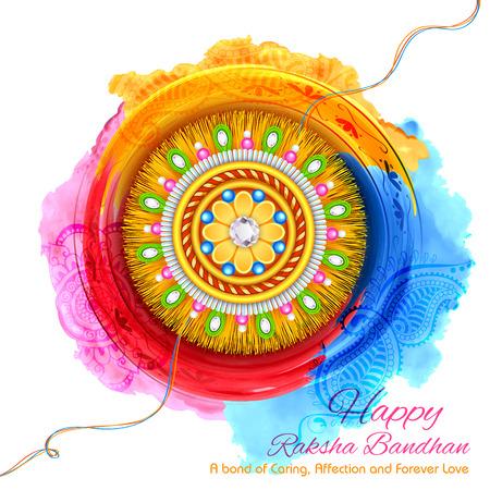 illustration of decorative Rakhi for Raksha Bandhan, Indian festival for brother and sister bonding celebration