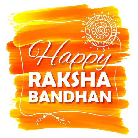 tied girl: illustration of decorative Rakhi for Raksha Bandhan, Indian festival for brother and sister bonding celebration