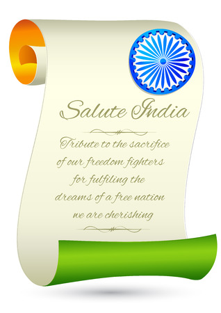 illustration of tricolor India Flag for Indian Happy Independence Day background