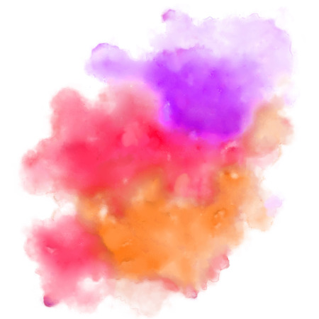 web designing: illustration of abstract colorful watercolor background for designing template for wedding,birthday,web design,promotion,banner Illustration