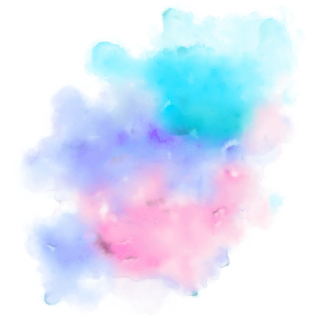 illustration of abstract colorful watercolor background for designing template for wedding,birthday,web design,promotion,banner Illustration