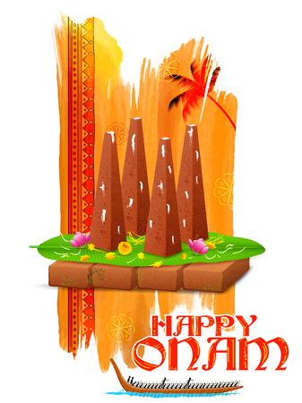 malayalam: illustration of decorated onathappan for Onam celebration