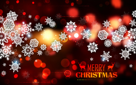 festive background: illustration of snowflakes on abstract Christmas background