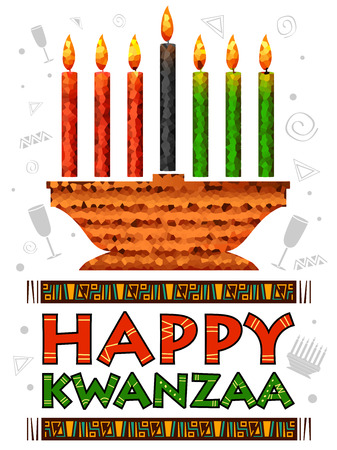 Illustration of happy kwanzaa greetings for celebration of african illustration of happy kwanzaa greetings for celebration of african american holiday festival of harvest stock vector m4hsunfo