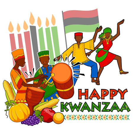 66 Happy Kwanzaa Stock Vector Illustration And Royalty Free Happy ...