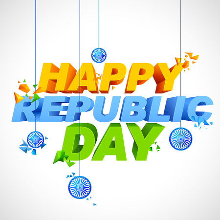 Tricolor background for Happy Republic Day of India