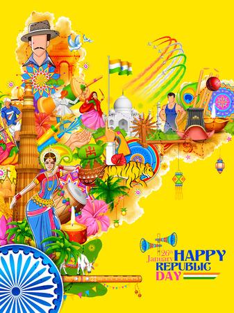 Inde fond montrant sa culture incroyable et la diversité avec monument, festival de danse