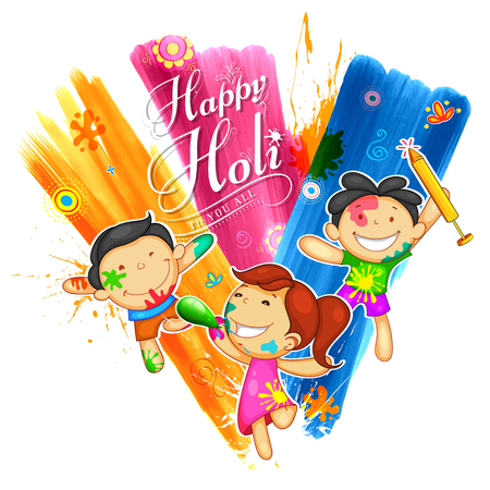 india culture: Happy Holi Background for Festival of Colors celebration greetings