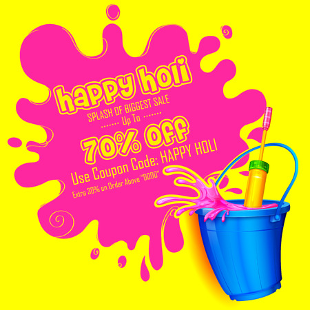 promotional: Holi promotional banner template. Illustration