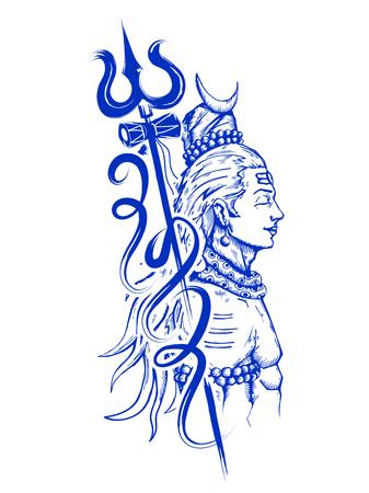 Lord Shiva, indische Gott der Hindu Standard-Bild - 72546350