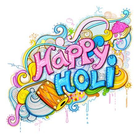 happy: Happy Holi Background Illustration