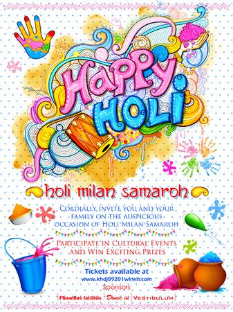 Happy Holi Background Illustration