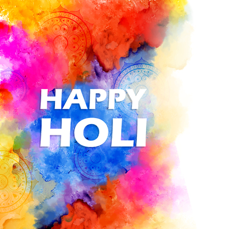 Illustration of abstract colorful Happy Holi background.