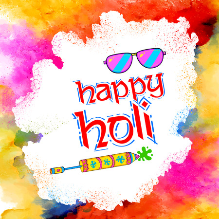 gulal: Illustration of abstract colorful Happy Holi background