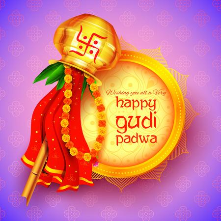 Gudi Padwa celebration of India Vectores