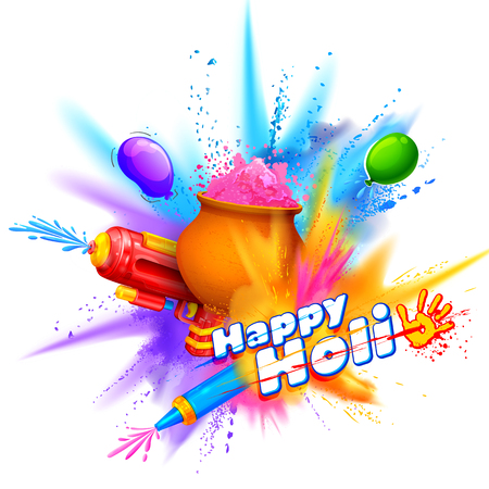 Powder color explosion for Happy Holi Background