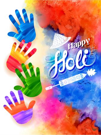 pichkari: Happy Holi background Illustration