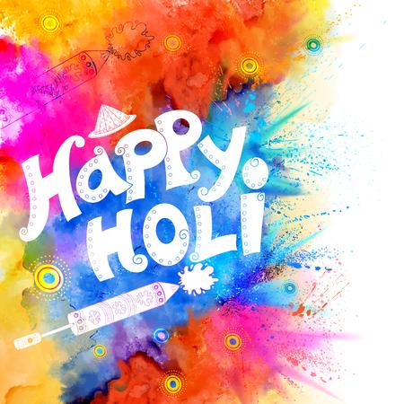 gulal: Happy Holi background Illustration