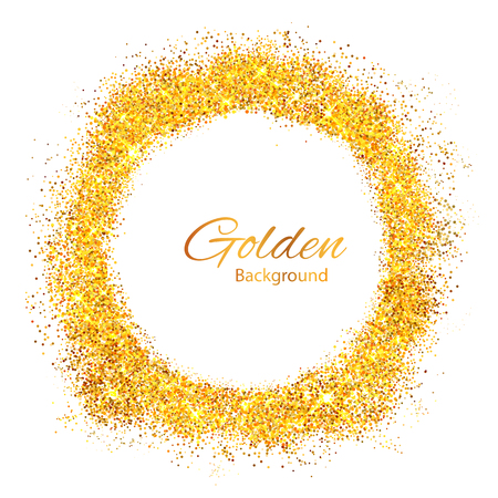 textured backgrounds: Shiny Glamorous Glittering Gold texture background Illustration