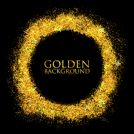 Shiny Glamorous Glittering Gold texture background Illustration