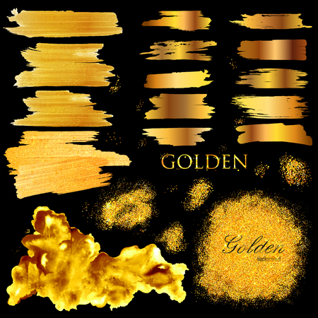 shiny background: Shiny Glamorous Glittering Gold texture background Illustration