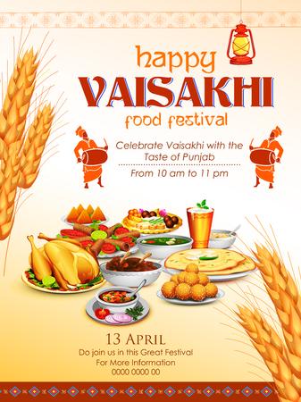 Happy Vaisakhi Punjabi festival celebration
